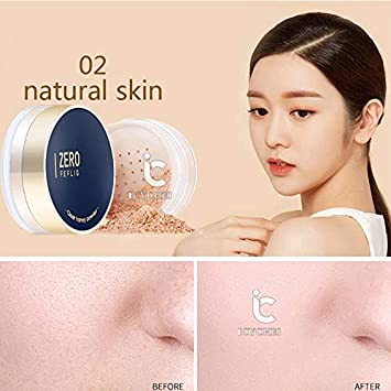 Amazon.com : ICYCHEER Natural Makeup Face Powder Long Lasting Oil Control Matte Finishing Powder Whitening Waterproof Smooth Losse Powder Brighten Concealer ...