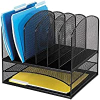 Safco Products 3255BL Onyx Mesh Desktop Organizer (Black)