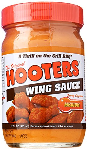 Hooters Wing Sauce, Medium, 12 oz