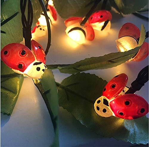 Mokylor Solar String Light,5m Long Ladybug String Lights with 20pcs Lights,Waterproof Light Bar Insect Lights for Indoor Outdoor Festival Party Decoration (Lights Ladybug)