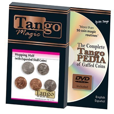 Hopping Half with Expanded Shell Coins & English Penny D0059 by Tango - Trick: Toys & Games