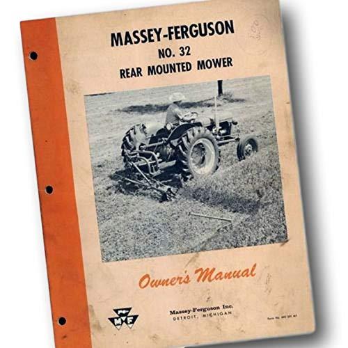 Massey Ferguson No 32 Mower Operators Owners Manual Bar Sickle Guard Mf ()
