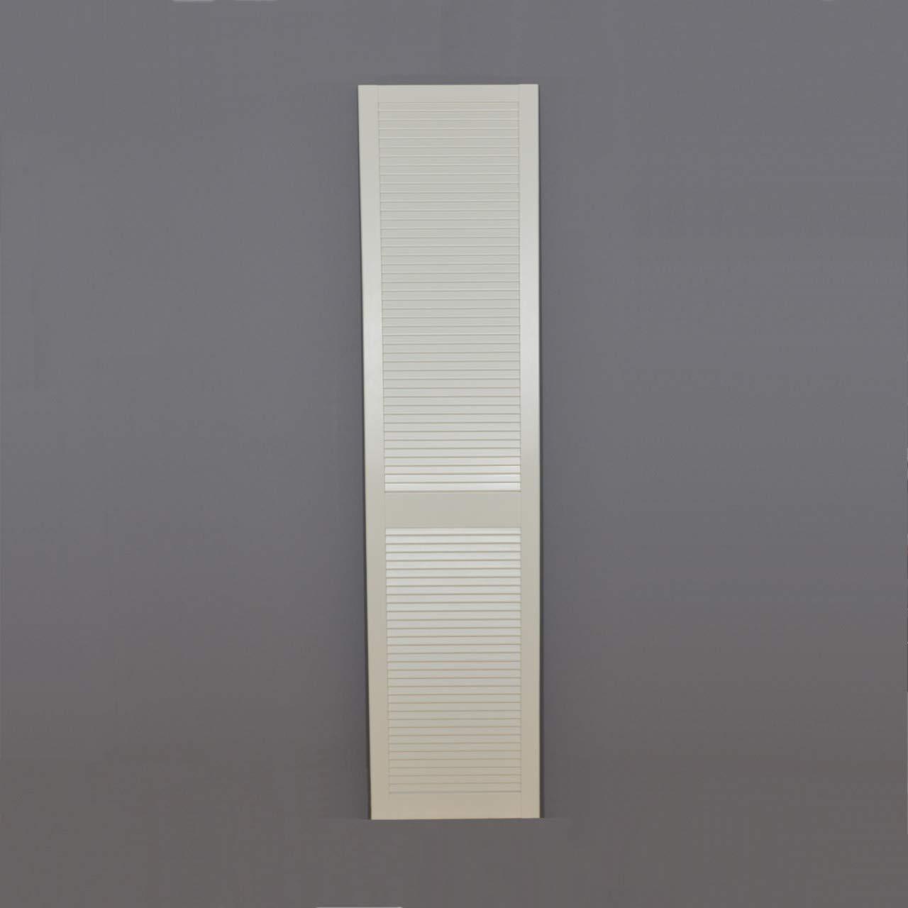 Lamellent/ür Kiefer weiss lackiert mit geschlossenen Lamellen 60,1 cm x 39,4 cm in 21 mm St/ärke Lichtdicht wei/ße Lamellent/üren als Schrankt/ür M/öbelt/ür oder Regalt/ür Staubdicht