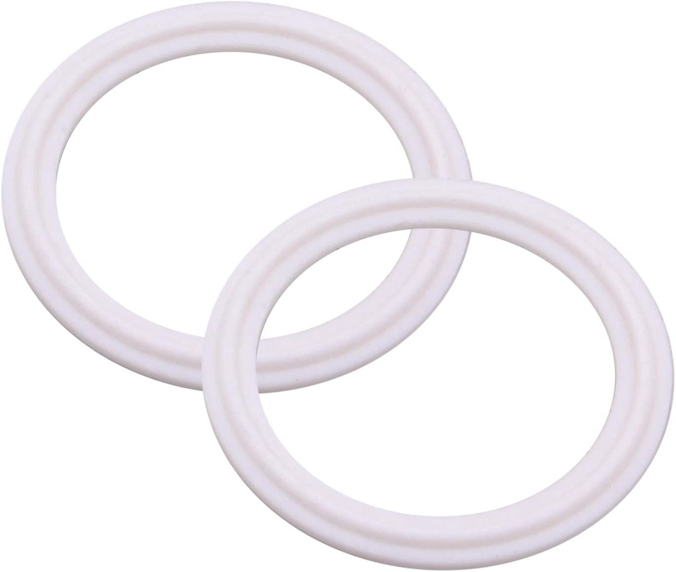 DERNORD PTFE (Teflon) Tri-Clamp Gasket O-Ring - 1.5 Inch Style Fits OD 50.5MM Sanitary Pipe Weld Ferrule (Pack of 2)