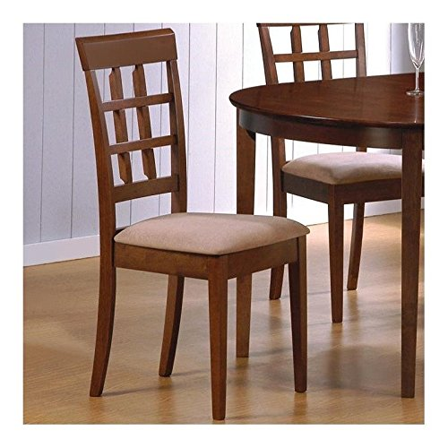 Set of 2 Contemporary Style Wheat Back Dining Chairs