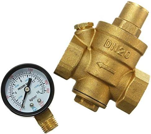 XY-YZGF Reduzierung mit Manometer Durchfluss Einstellbare Messingwasserdruck DN20 3/4 Zoll-Ventil Filterpumpe
