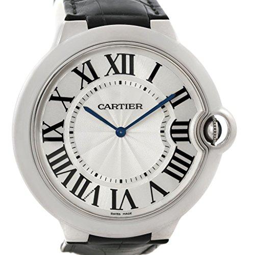 Cartier Ballon Bleu mechanical-hand-wind silver mens Watch W6920055 (Certified Pre-owned)