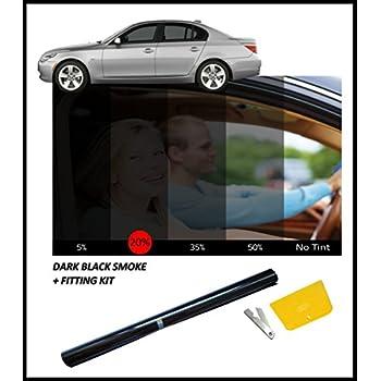 flexzon dark black car window film tint 15 76cm x 3m automotive. Black Bedroom Furniture Sets. Home Design Ideas