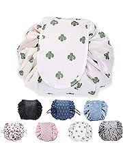 ZhengYue Lazy Trekkoord Make-up Bag Draagbare Grote Reizen Cosmetische Tas Pouch Reizen Make-up Pouch Opslag Organizer voor Vrouwen Meisje
