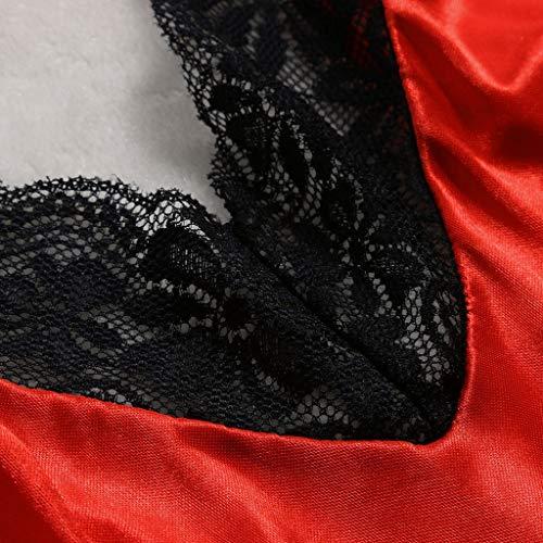 Sexy Lingerie for Women for Sex,Womens Lace Teddy Lingerie Chemise Soft Pajama Babydoll Bodysuit Nightwear Sleepwear Red by F_topbu Lingerie (Image #3)