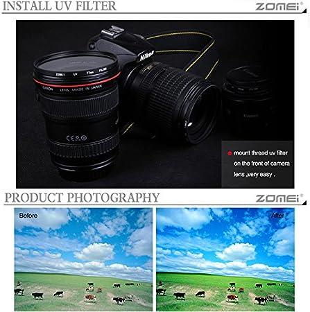MeterMall New for ZOMEI for Ultra-Violet UV Filter Lens Protector for SLR DSLR Camera 49mm