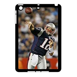 3D Tom Brady Series, IPad Mini 2D Cases, Tom Brady New England Patriots Cases For IPad Mini 2D [Black] by ruishername