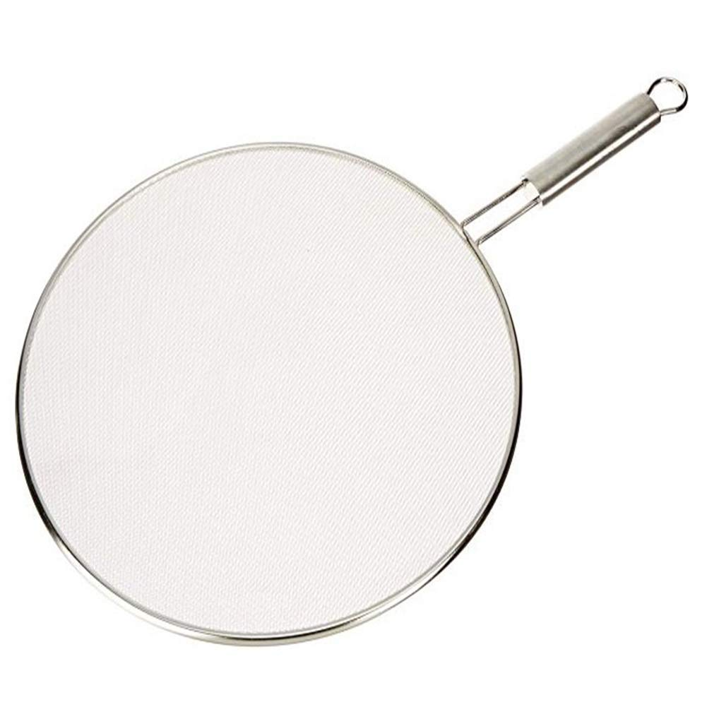 RANRANHOME Splatter Screen,Frying Pan Premium 33Cm Food Grade Stainless Steel Grease Oil Guard for Safe Cooking, Keeps Stovetop Clean Kitchen Accessories by RANRANHOME
