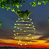 xtf2015 Outdoor Decor Solar Pineapple Lights, Waterproof Led Pineapple Lantern, Copper Wire Pineapple Solar Hanging Lights Decoration Lighting for Patio, Deck, Yard, Garden, Path, Driveway (1 Pack)