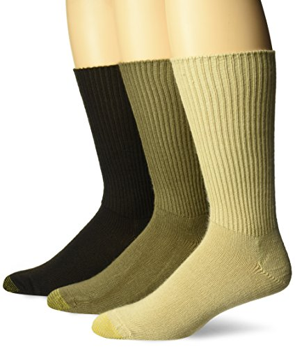 Gold Toe Mens Fluffies Sock, 3 Pack Extended