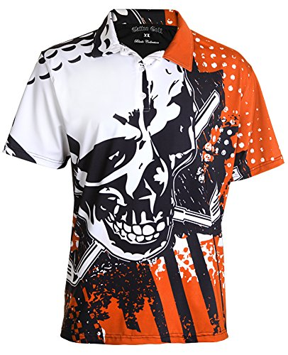 TattooGolf Crazy Golf Shirt - The Blade Performance Polo M - Orange