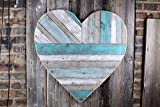 Rustic reclaimed wood heart, large wood heart, cottage heart, vintage look, pallet wood, barn style, beach cottage decor