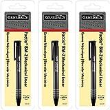 GENERAL PENCIL CO. GPBM2-BP Factis Pen Style Eraser Carded (3-Pack)