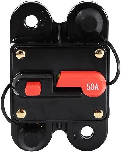 Circuit Breaker,Akozon 50Amp 100Amp Circuit Breaker Reset Fuseholder Car Boat Fuse Holder Waterproof 12-24V New 50A
