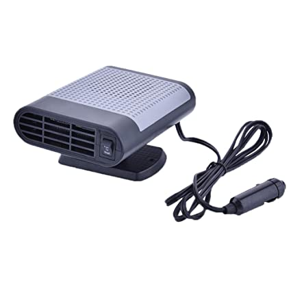 Younar Car Heater 12V Portable Fast Heating Quickly Cooling Fan Car Auto  Defogger Defroster with Negative Ion Air Cleaner (Grey)