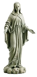 Avalon Gallery Our Lady of Grace Resin Garden Statue Figurine, 24 Inch