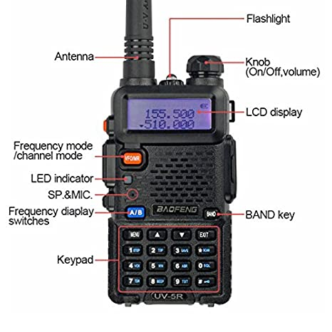 Amazon BaoFeng UV 5R Dual Band Two Way Radio Black Cell Phones Accessories