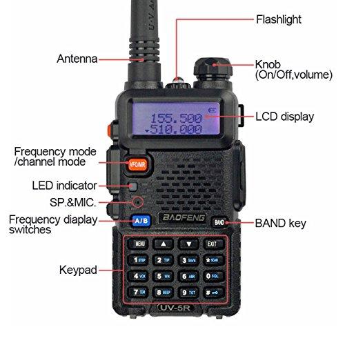 BaoFeng UV-5R Dual Band Two Way Radio (Black) by BAOFENG (Image #2)