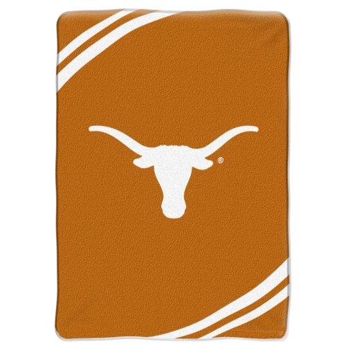 "NCAA Texas Longhorns 60-Inch-by-80-Inch Raschel Plush Blanket ""Force"" Design"