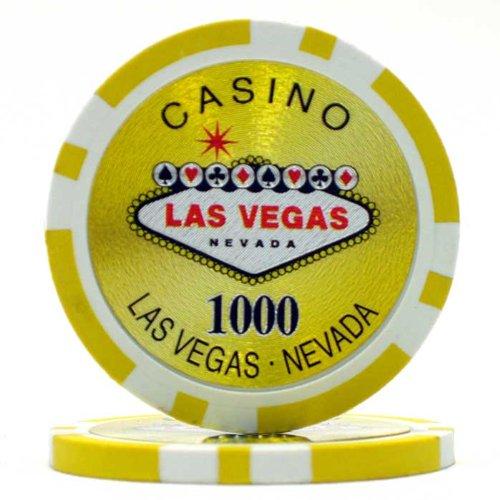 Trademark Poker Clay Laser Las Vegas 50 Poker Chips (1000-Piece), 15gm Las Vegas Poker Chips Laser