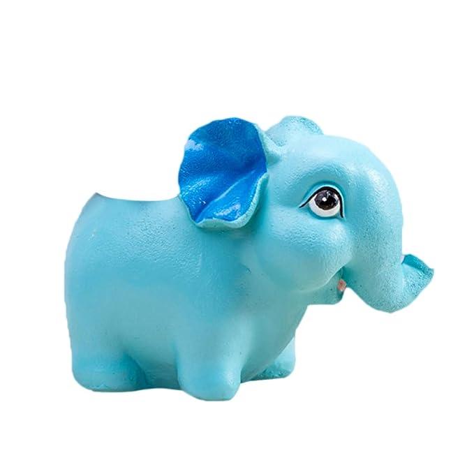 Vosarea Resina Elefante Forma Maceta Flor Suculent...