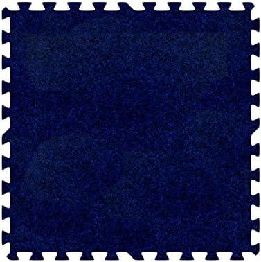 Alessco Eva発泡ゴム酷使プレミアムソフトカーペットセットロイヤルブルー 10' x 10' ブルー SCRB1010
