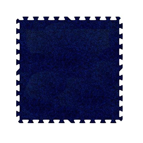 Alessco EVA Foam Rubber Interlocking Premium Soft Carpets 16' x 16' Set Royal Blue