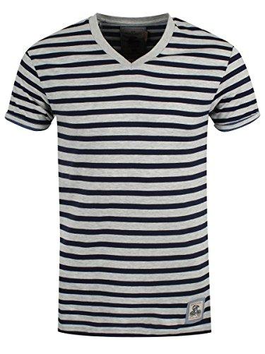 Brave Soul Herren T-Shirt Streifen schwarz-weiß