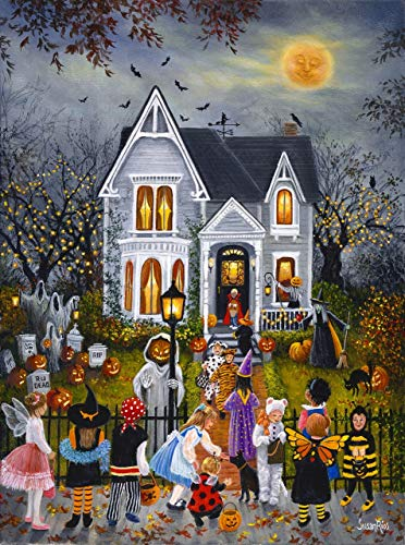 Scary Night 1000 pc Halloween Jigsaw Puzzle by SunsOut