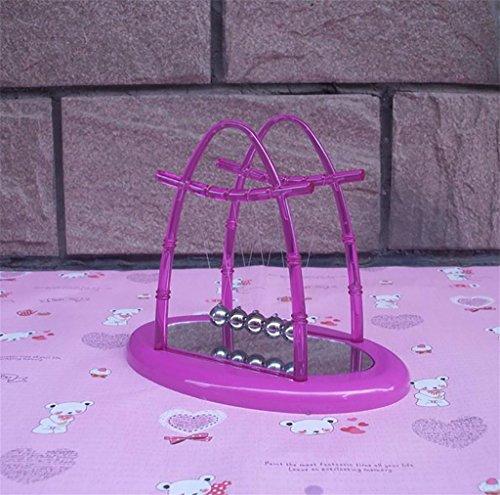 LLL-Ball-Billard-Tisch mit Spiegel Newtons Wiege Schaukel Stoßkugel Handwerk Geschenke Schmuck , purple