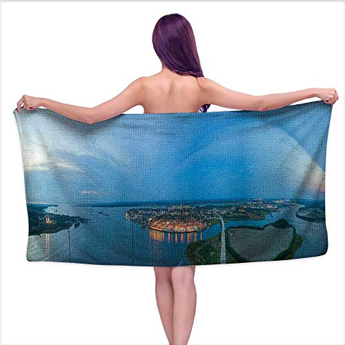 - Leigh home Bath Towel,Charleston, South Carolina Takes a Panoramic View of The City from The Highest Point,Good Ideal for The Kid's Bathroom, a Guest Bathroom W 20