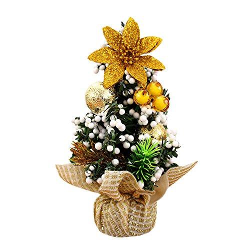 Merry Christmas Tree, Litetao Bedroom Desk Decoration Toy Doll For Gift/Office Home Art/Children/Festival (Gold)