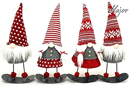 Christmas Gnomes Clipart.Christmas Gnome Decor Height 45 Cm Snowboard Gnome 1 Piece