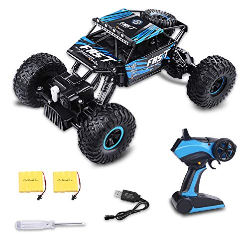 Fancy Buying RC Play Remote Control Car 4WD Off Road Rock Crawler Vehicle 2.4 GHz (Blue) (Radio Control Truck Pulling)