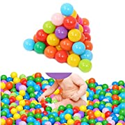 HeroNeo 500pcs Colorful Ball Fun Ball Soft Plastic Ocean Ball Baby Kid Toy Swim Pit Toy