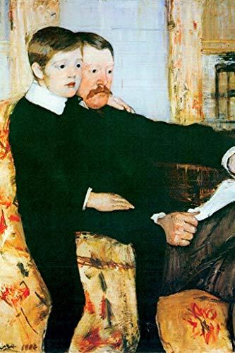ArtParisienne Alexander Cassatt and His Son Robert Kelso Cassatt Mary Cassatt 16x24-inch Wall Decal
