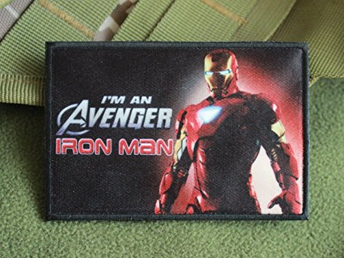 NEW IRON MAN AVENGERS BADGE MOVIE MARVEL LOGO VELCRO PATCH