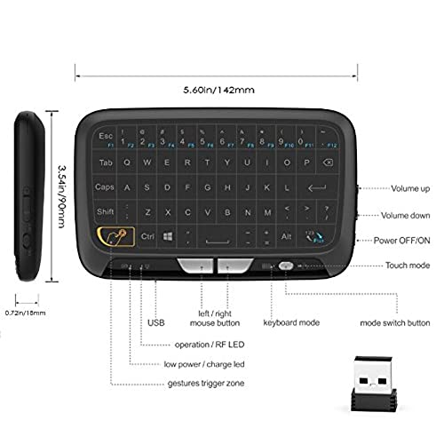 25cb1c1a5d0 70%OFF Xgody H18 Mini Wireless Whole Panel Touchpad Combo 2.4GHz Wireless  Keyboard Handheld