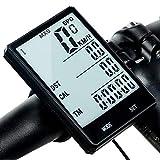 Limón Computadora y Velocímetro Digital para Bicicleta, Pantalla LCD IPX6 a Prueba de Agua, Retroiluminación, Odómetro, Medidor de Distancia, Calorías, Tiempo, Temperatura y más