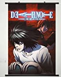 Wall Scroll Poster Fabric Painting For Anime Death Note L Lawliet & Yagami Light 054 L