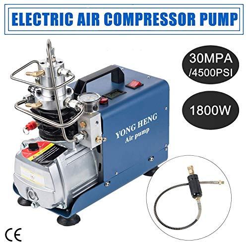 YONG HENG 110V Air Compressor Pump, 30MPA 300BAR 4500PSI High Pressure Electric Air Pump for Airgun Rifle PCP Inflator
