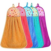 ALOUD CREATIONS Hanging Soft Microfiber Hand Towel for Wash Basin and Kitchen