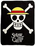 GE Animation GE-57051 One Piece Straw Hat Pirates Throw Blanket, 50'' x 60''
