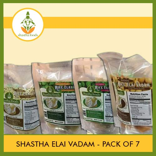 Shastha Elai Vadam (Pack of 7) Each Pkt 100 Gms (T-B) by Shastha Foods