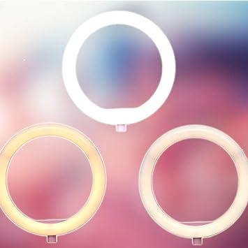 Selfie LED Anillo Flash Light Portátil Teléfono Selfie Lámpara ...